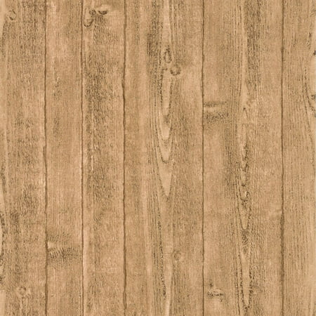 Orchard Taupe Wood Panel Wallpaper Walmart