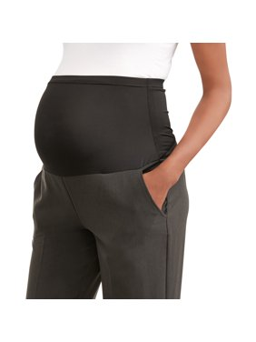 Maternity Oh! Mamma Straight Leg Career Pant with Full Panel (Available in Plus Sizes)