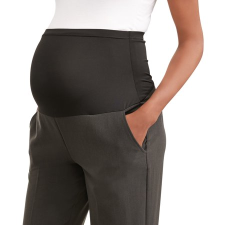 Maternity Oh! Mamma Straight Leg Career Pant with Full Panel (Available in Plus Sizes) Duo Maternity Pants
