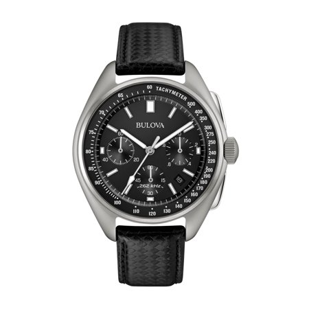Gents Black Strap - Mens Moon Chronograph - Special Edition - Black Leather Strap - Date