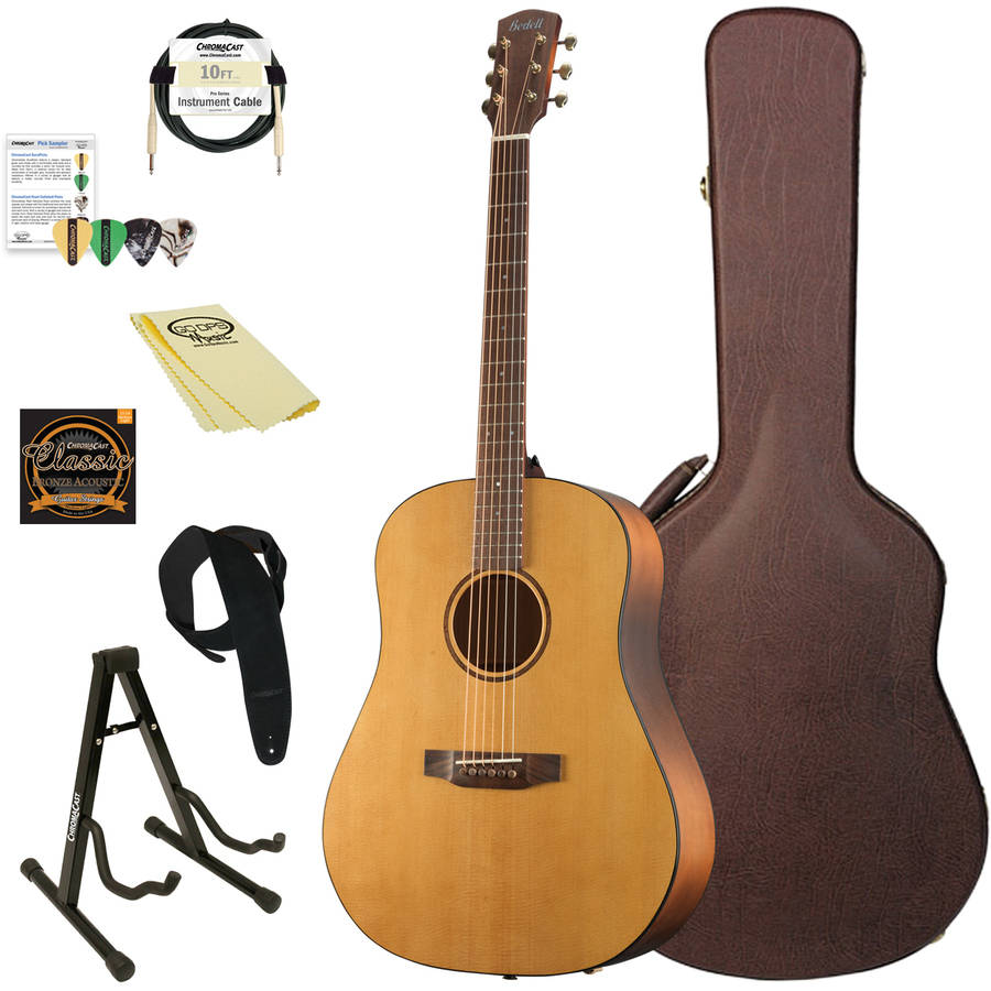 Bedell Guitars Earthsong Series Dreadnought Acoustic-Electric Guitar with ChromaCast Accessories, Natural