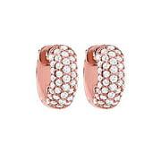 Fine Jewelry Vault UBNERV1ER043AGVRCZ CZ 5 Row Petite Vault Lock Earrings in 14kt Rose Gold Over Sterling Silver