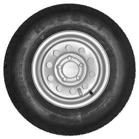 eCustomRim Trailer Tire On Rim ST185//80R13 Load Range D 5-4.5 Black Spoke Wheel 3.19 CB