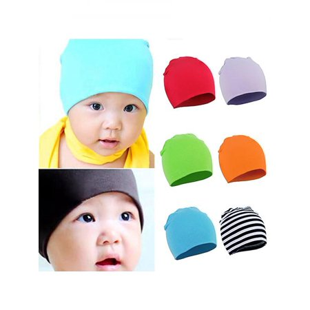 Unisex Baby Toddler Infant Beanie Hat Cotton Soft Double Layers Photo Prop Cap