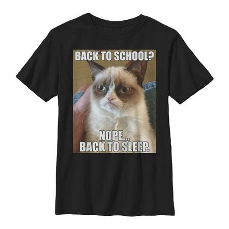 - Grumpy Cat Boys' Back to Sleep T-Shirt