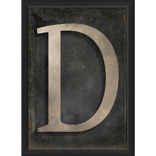 The Artwork Factory Letter D Framed Textual Art