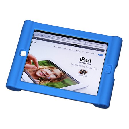Maximal Power Shock Impact Proof Silicone Cover for Apple iPad 2, 3rd, 4th Generation Case, Blue (POU IPAD/BL)