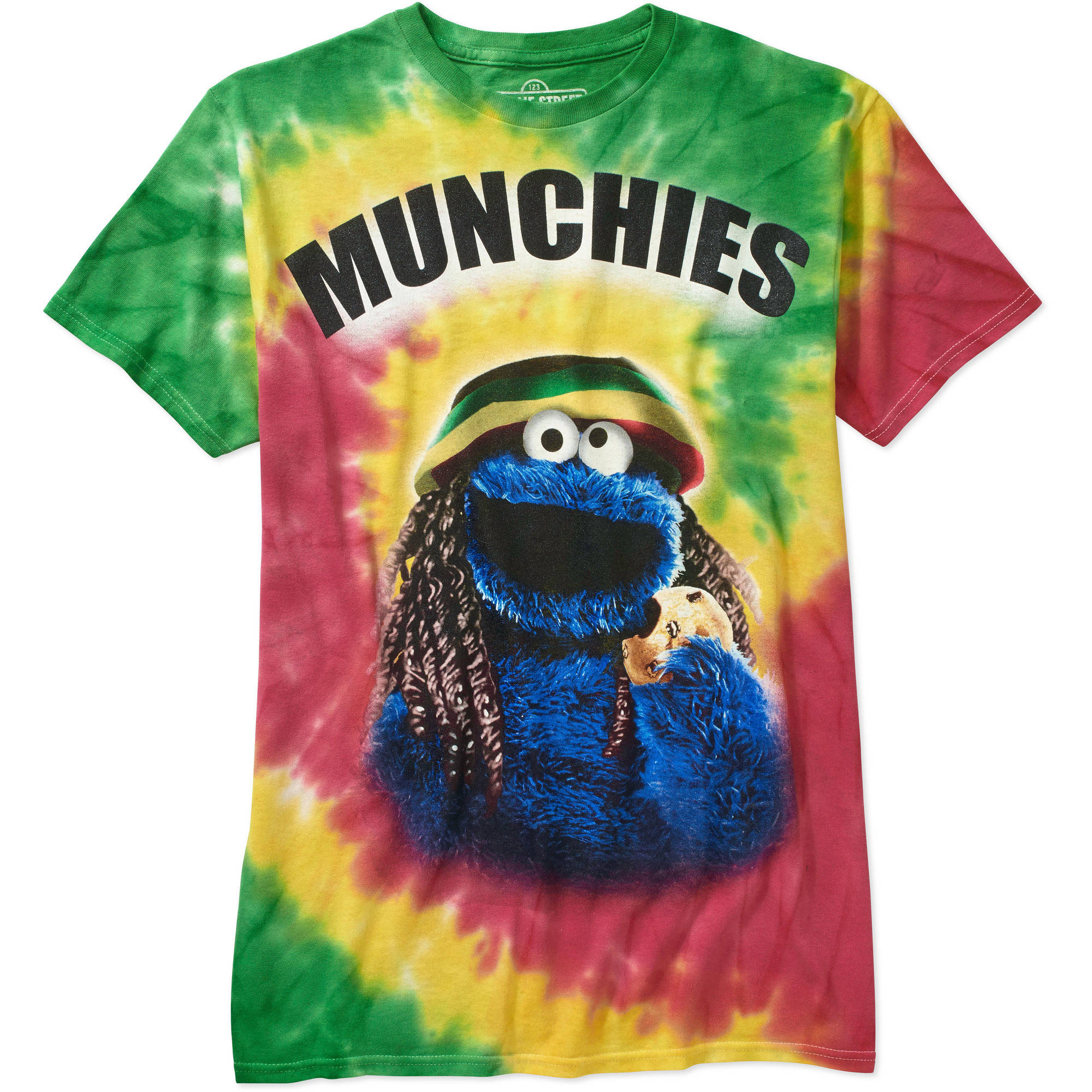 Sesame Street Men's Cookie Monster Munchies Shorts Sleeve Graphic Tee