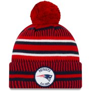 New England Patriots New Era Youth 2019 NFL Sideline Home Reverse Sport Knit Hat - Red - OSFA