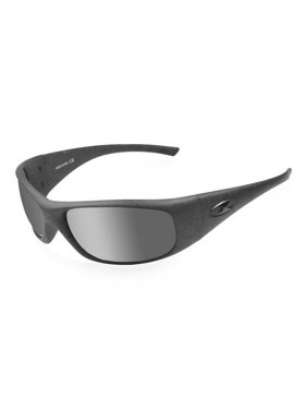 ICICLES SLB Agent Silver Mirror Lens Sunglasses with Matte Black Frames