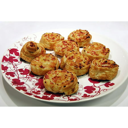 Canvas Print Puff Pastry Puff Pastry Appetizers Snack Stretched Canvas 10 x 14