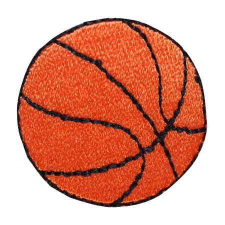 ID 1491 Lot of 2 Basketball Patch Sport Dribble Ball Embroidered IronOn Applique Basketball Team Logo Patch