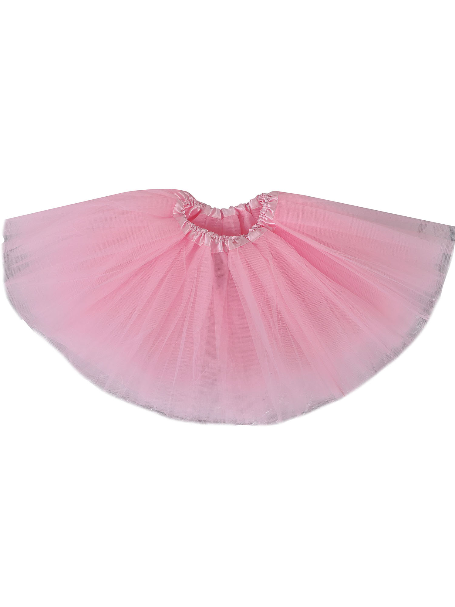 Baby's 4 Layered Tulle Classic Princess Dress-up Tutu Skirt,Light Pink,6-18 mont