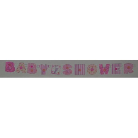 Girls Pink Baby Shower Banner Party Decoration](Pink Party Decorations)