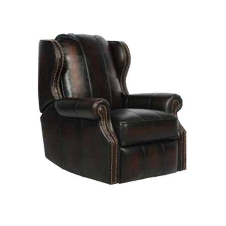 barcalounger bristol ii leather wing recliner