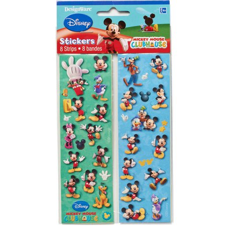 Mickey Mouse Sticker Sheets, 8 Count, Party Supplies