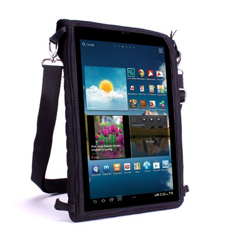 Kid Proof Tablet Case Cover by USA Gear w/ Touch Capacitive Screen Protector , Adjustable Strap & Thick Neoprene - Works with HP ElitePad 1000 G2 , Barnes & Noble Tab E Nook , Archos Neon 101 & More!