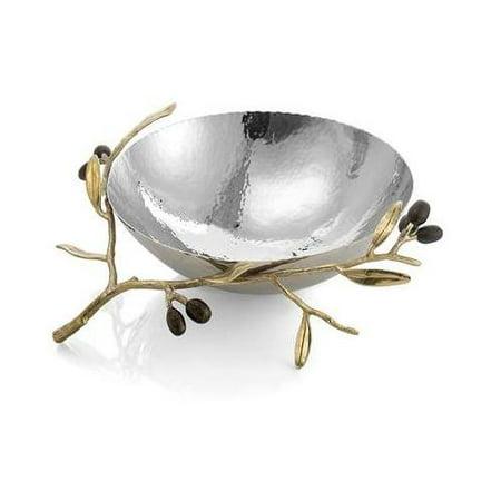 Michael Aram Olive Branch Gold Serving Bowl Medium -