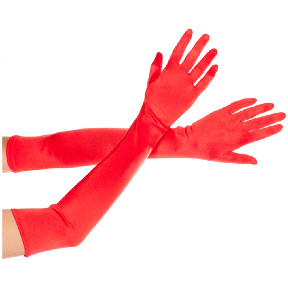 Extra Long Satin Gloves Adult Costume Accessory Black
