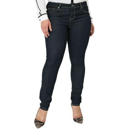 Miss Halladay Plus Size Women's Midrise Skinny Jeans Indigo Rinse Size 10 To 30 ()