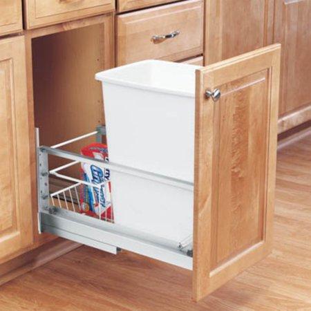 Rev A Shelf Soft Close Single Pull Out 35 Qt Trash Can