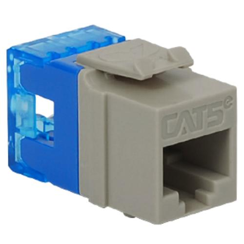 Icc 8p8c Hd Category 5e Module, 1 Pc - 1 Pack - 1 X Rj-45 Female - Phosphor Bronze-plated Contacts - Gray (ic1078f5gy)