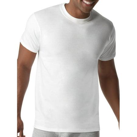 Hanes Mens ComfortBlend Tagless White Crew T-Shirts, 5 Pack