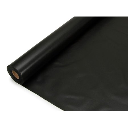 Roll Of Table Cover (Plastic Table Cover Roll - Velvet Black - 40 inches x 100)