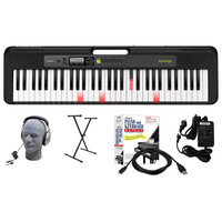 Casio LK-S250 EPA 61-Key Premium Lighted Keyboard Pack with Headphones, Stand, Power Supply, 6-Foot USB Cable and eMedia Instructional Software