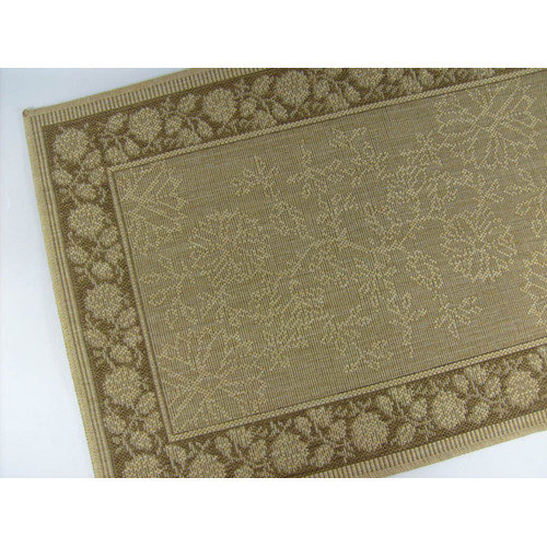 American Mills Summer Vine Honey/Chocolate Indoor/Outdoor Area Rug