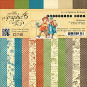 """Graphic 45 G4501247 Graphic 45 Double-Sided Paper Pad 6""""X6"""" 36/Pkg - Children's Hour, 12 Designs/3 Each"""