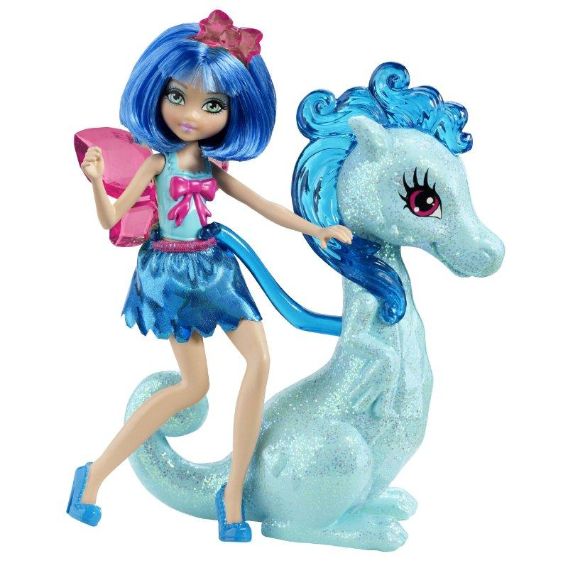 Barbie Princess Charm School Princess Assistant Blue Fairy And Dragon by