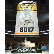 Pittsburgh Penguins 2017 Stanley Cup Banner Raising Photo Print by Photofile