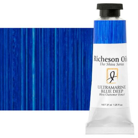 Shiva Signature Artist Oil Color - Ultramarine Blue Deep, 1.25 oz Tube