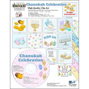 ScrapSMART Chanukah Celebration Clip-Art CD-ROM, Colorful Illustrations for Scrapbook, Craft, Sewing