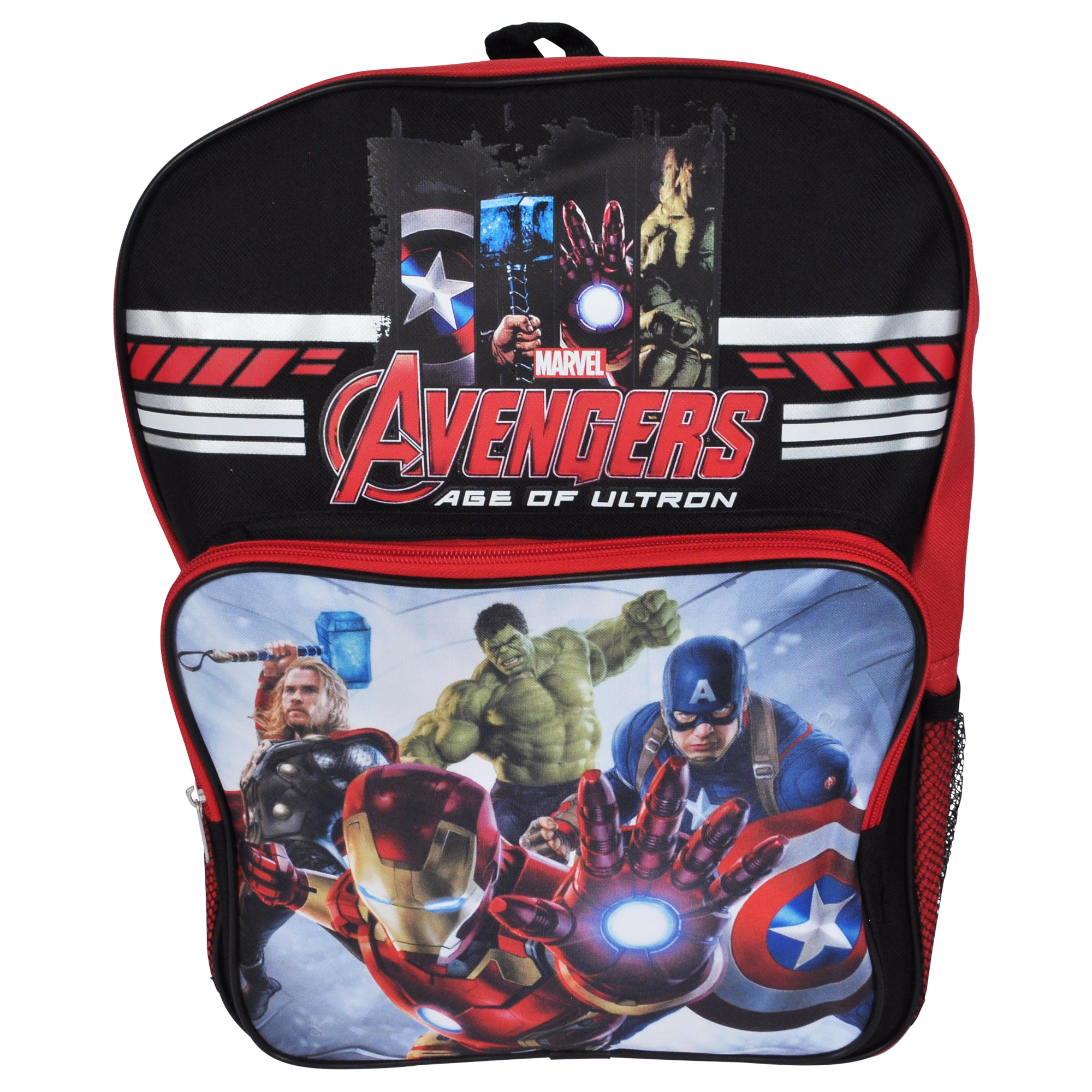 Marvel's Avengers Boys Black Cargo Backpack 16""