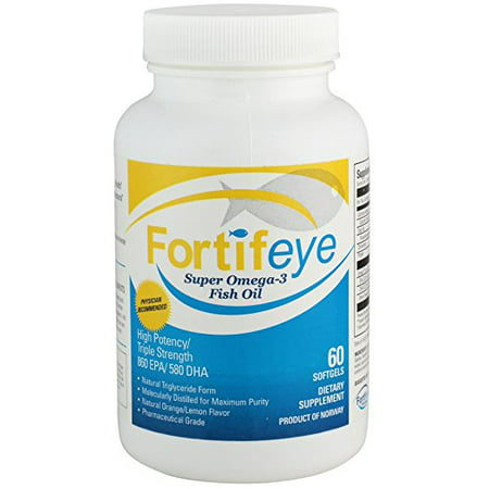 Fortifeye vitamins super omega 3 fish oil natural for Triglyceride fish oil