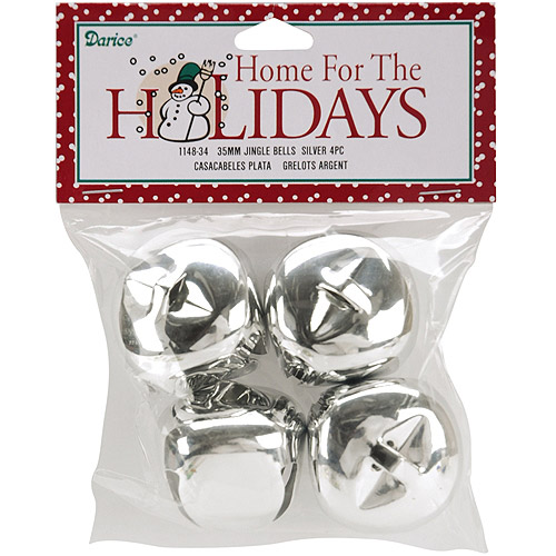 "Jingle Bells, 1.375"", 4/Pkg"
