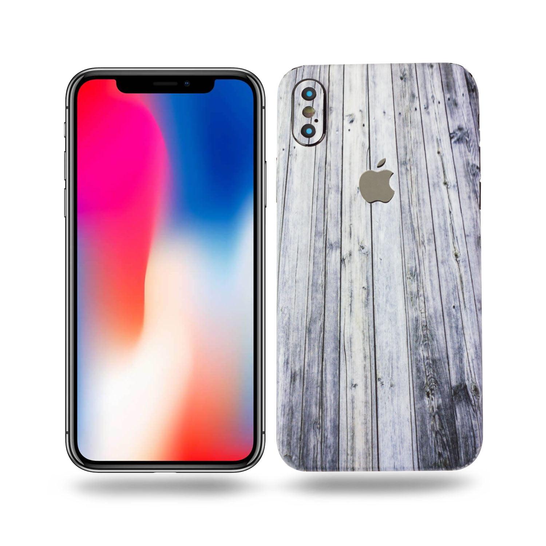 10PK - SOJITEK Apple iPhone X / iPhone 10 Brown Wood Texture Protective Vinyl Skin Decal Skins & Wraps