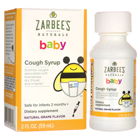 Zarbee's Naturals Baby Cough Syrup with Agave & Thyme , Natural Grape Flavor, 2 Fl. Ounces (1 Box) (Baby Cigars)
