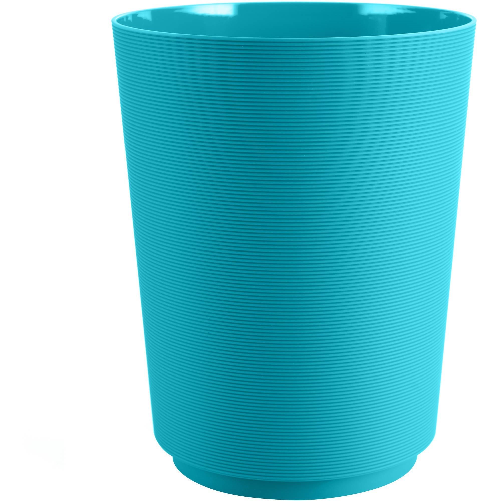 Mainstays Soft Touch Grey Wastebasket, 1 Each