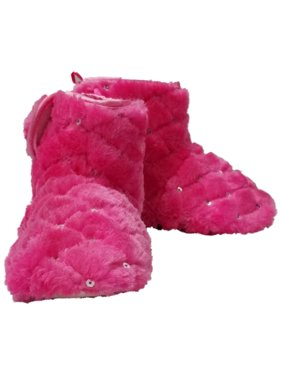 Infant & Toddler Girls Pink Sequin Slippers Faux Fur Bootie House Shoes