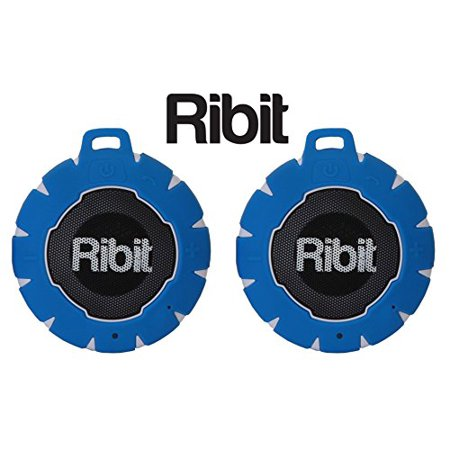 ribit blue waterproof bluetooth speakers - ipx7 outdoor wireless speakers - best bluetooth speakers for pool and shower - floating stereo speaker pair ribit waterproof bluetooth speakers - ipx7 outdoor wireless speakers - best bluetooth speakers for pool and shower - floating stereo speaker pair