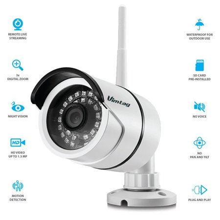 Vimtag B1 Outdoor All Weather Camera   Wifi Video Monitoring Surveillance Security Camera  Wide Viewing Angle  Plug Play    Night Vision  32 Gb Sd Card Pre Installed