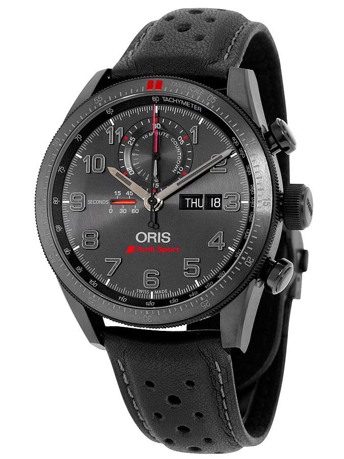 Artix GT Audi Sport Chronograph Black Dial Black Leather Watch 778-7661-7784SET