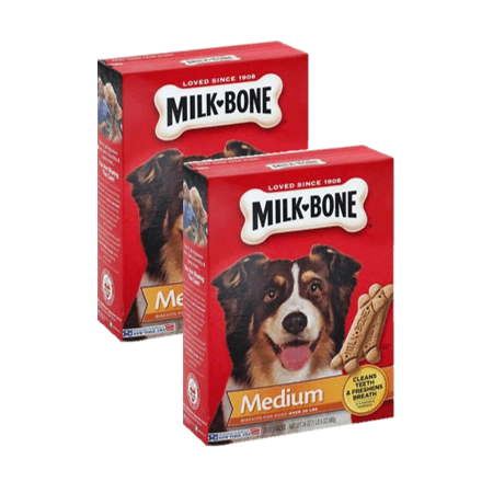 (2 Pack) Milk-Bone Original Dog Biscuits - for Medium-sized Dogs, 24-Ounce - Milk Bone Original Biscuits