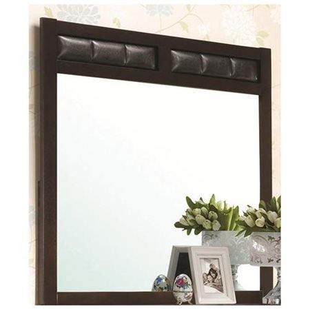 Tropical Island Dresser Mirror - Dresser Mirror with Upholstered Frame