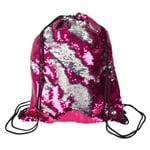 Sequin Drawstring Backpack - Pink - Sequin Pink Backpack