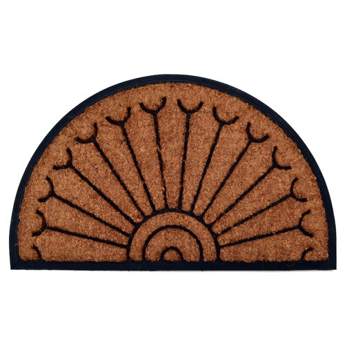 Imports Decor Molded Peacock Half Round Doormat