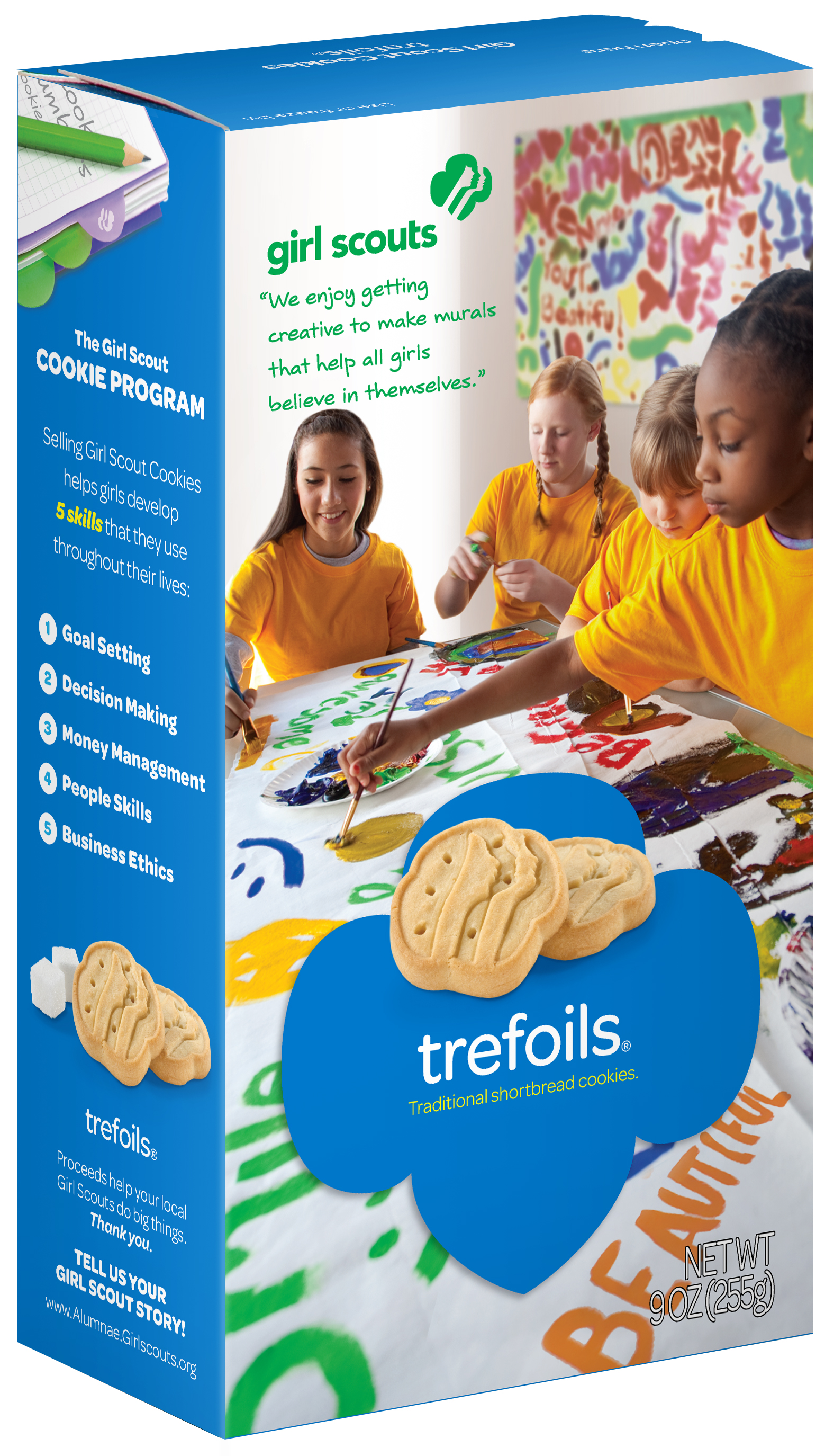 Girl Scout Cookies Trefoils Traditional Shortbread 1 Box of 40 Cookies by